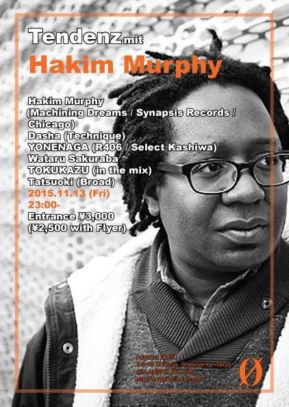 Tendenz mit Hakim Murphy - Flyer front