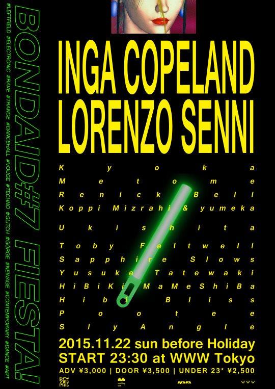 Bondaid#7 FIESTA! Inga Copeland & Lorenzo Senni - Flyer front