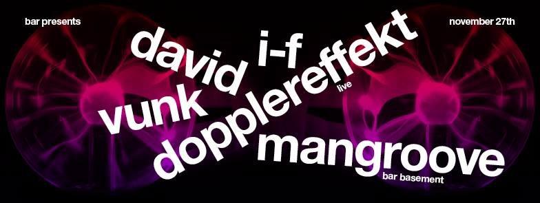 Dopplereffekt, I-F & David Vunk - Flyer front