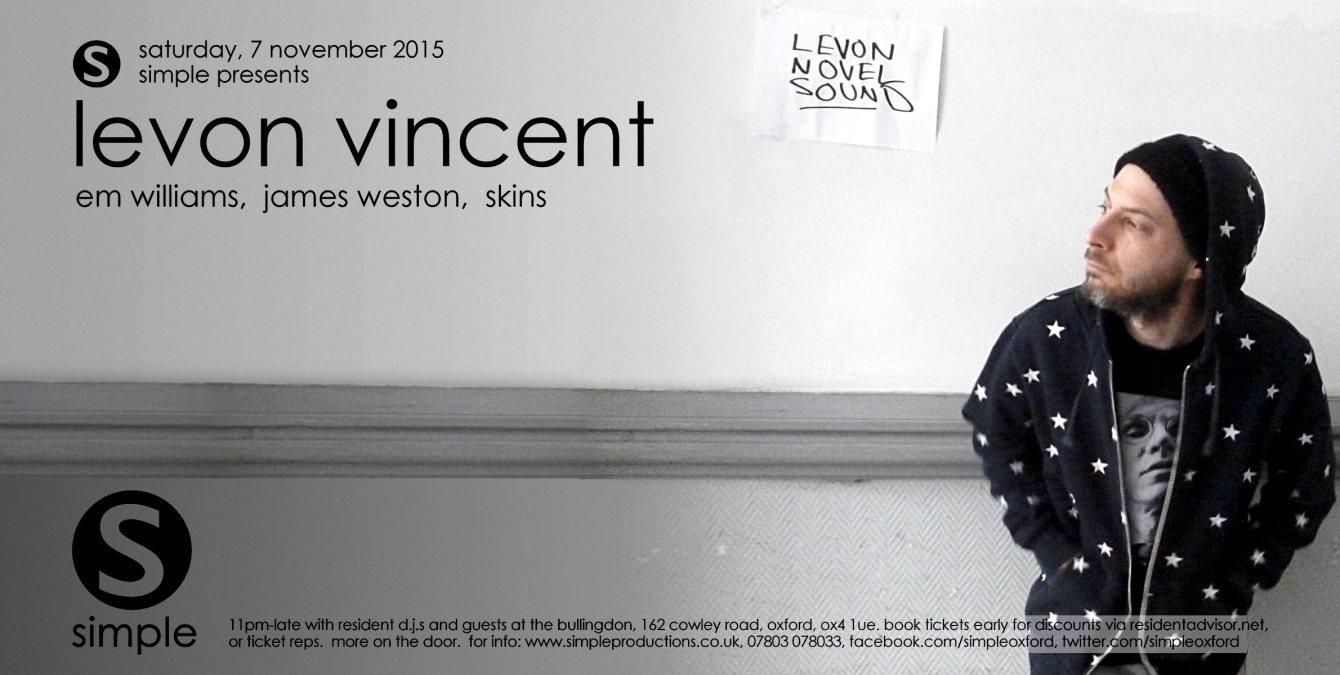 Simple presents Levon Vincent - Flyer front