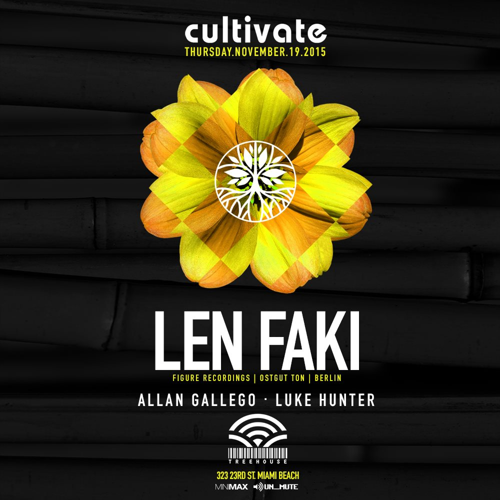 Len Faki by Cultivate - Flyer front