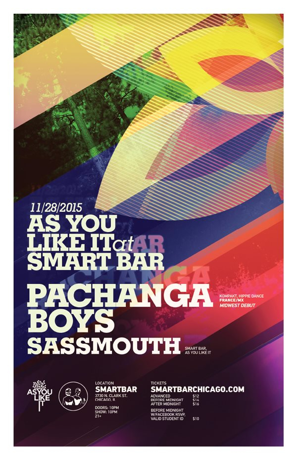 As You Like It Welcomes the Pachanga Boys - Flyer front