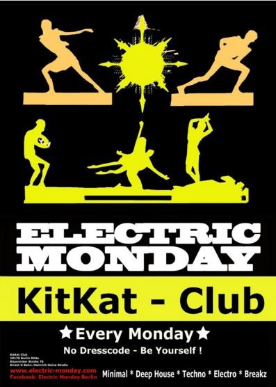 Electric Monday - Flyer front
