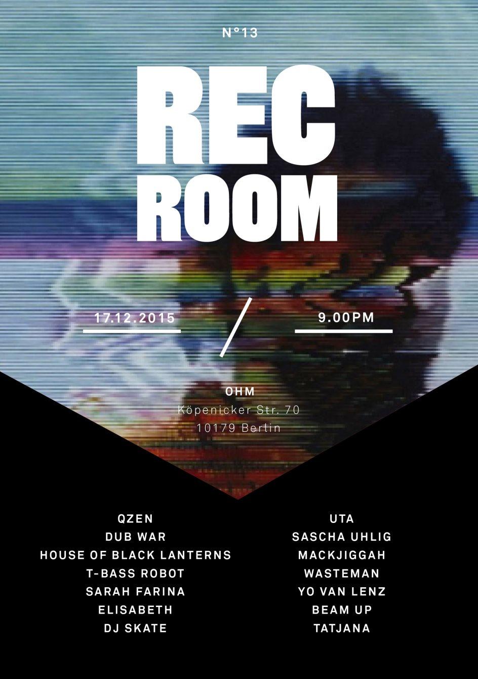 Rec Room #13 - Flyer front