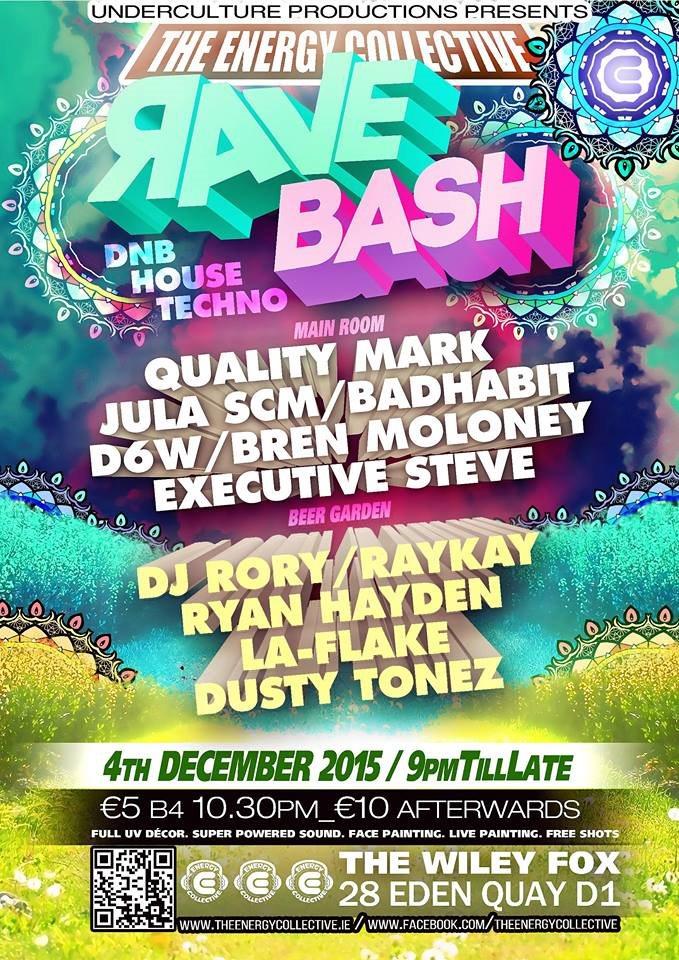 Rave Bash - Flyer front
