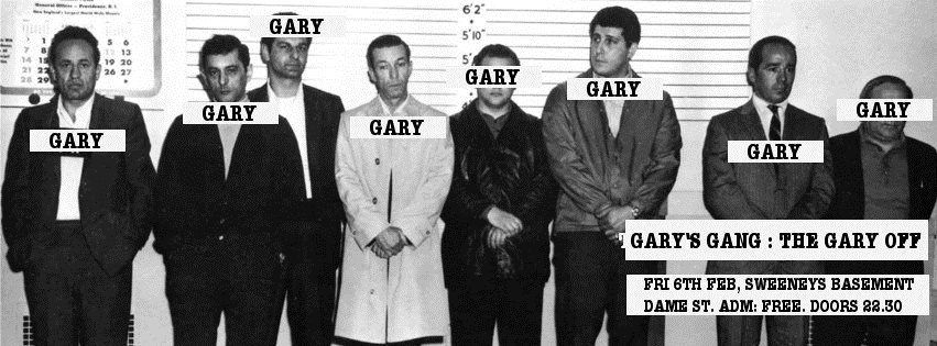 Gary's Gang presents: The Gary Off - Flyer front