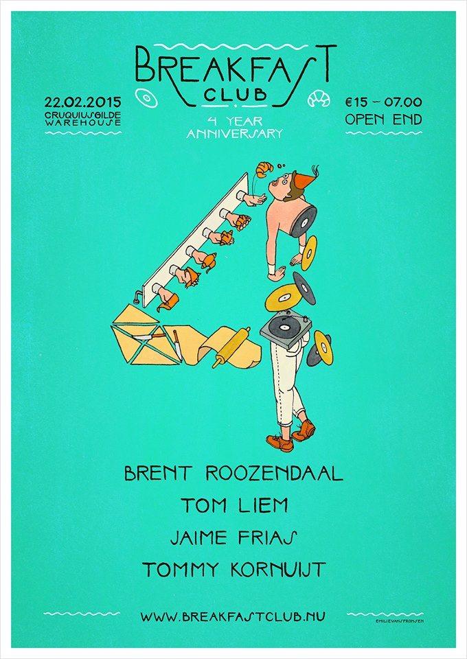 Breakfast Club - 4 Year Anniversary - Flyer front