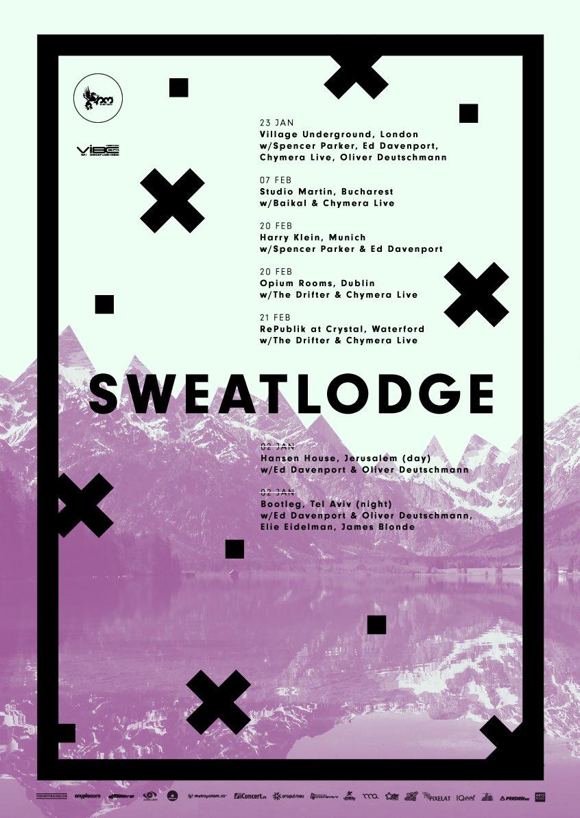 Studio Martin x Sweat Lodge: Baikal, Chymera Live, Victor Stancov - Flyer front