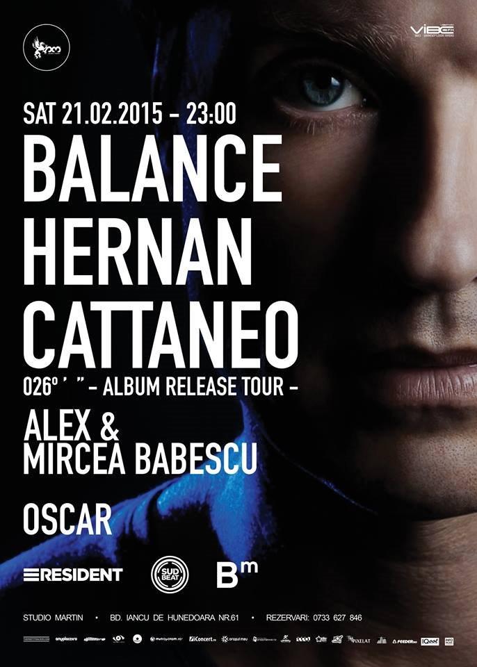 Hernan Cattaneo - Balance 026 Album Release Tour - Flyer front