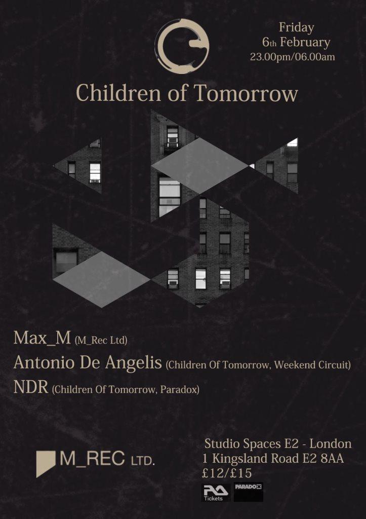 Children Of Tomorrow vs M_rec LTD with Max_m, Antonio De Angelis & NDR - Flyer front
