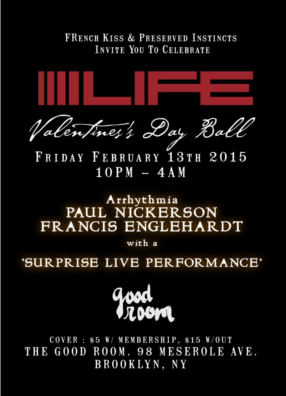Celebrate Life: Dope Jams Valentine's Day Ball - Flyer back