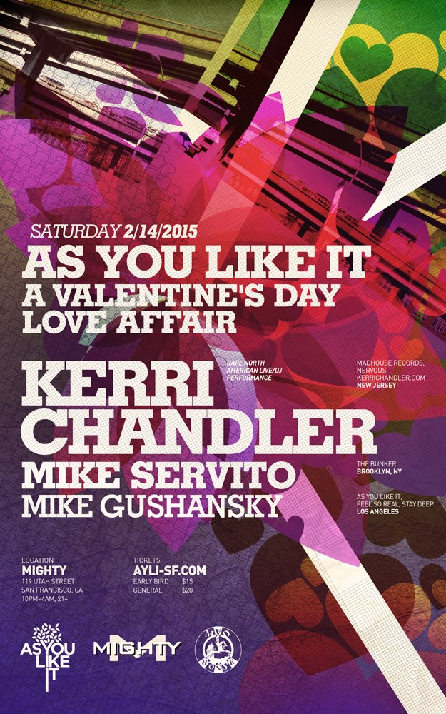 Ayli presents A Valentine's Day Love Affair with Kerri Chandler - Flyer front