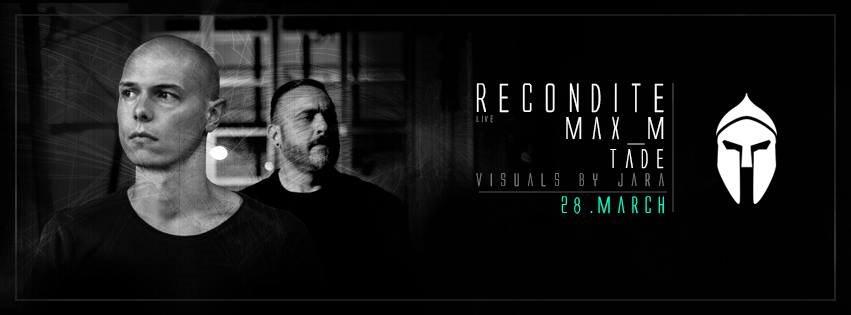 Bassiani: Recondite Live, Max_m, Tade - Flyer front