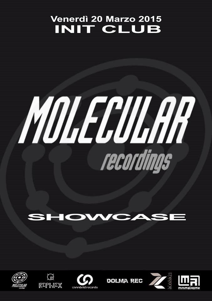 Molecular Recordings Showcase - Flyer back