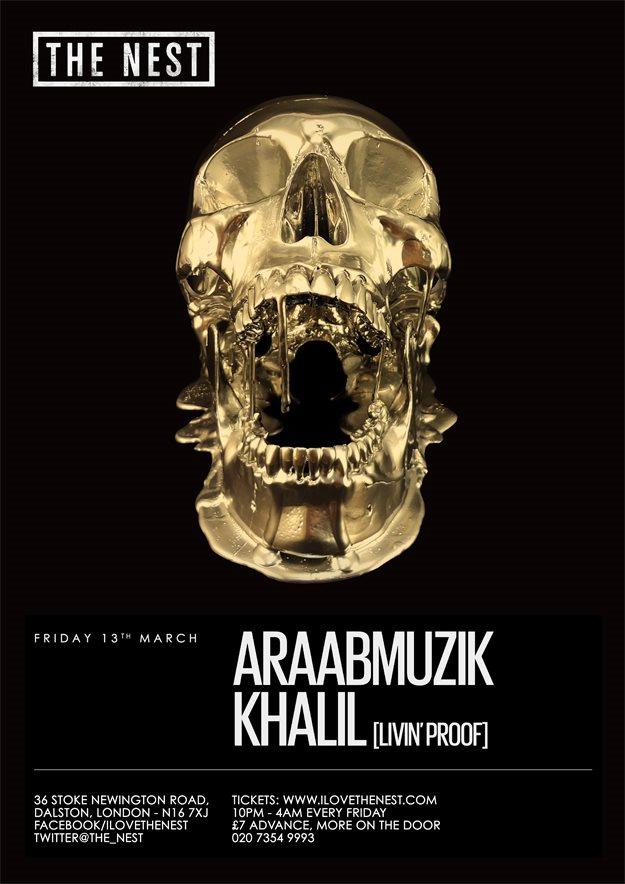 Araabmuzik + Pyrmdplaza + Khalil + Budakan - Flyer front