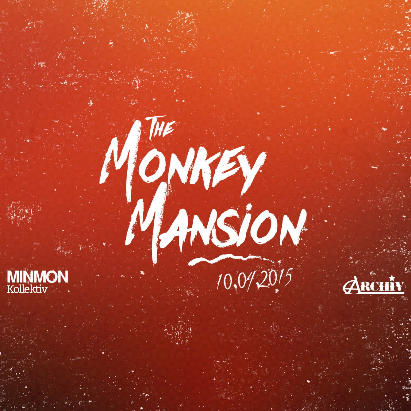 The Monkey Mansion - Flyer front