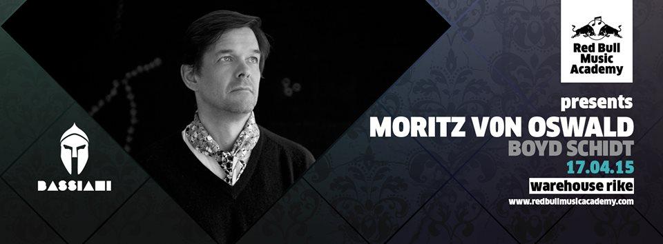 Bassiani & Red Bull Music Academy present Moritz Von Oswald - Flyer front