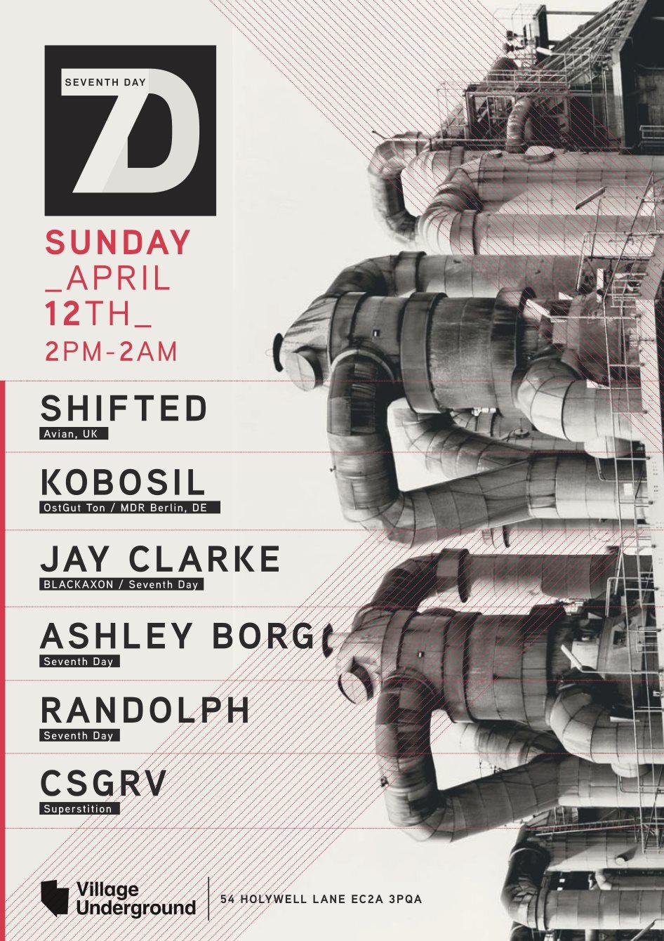 Seventh Day W/ Shifted & Kobosil - Flyer back