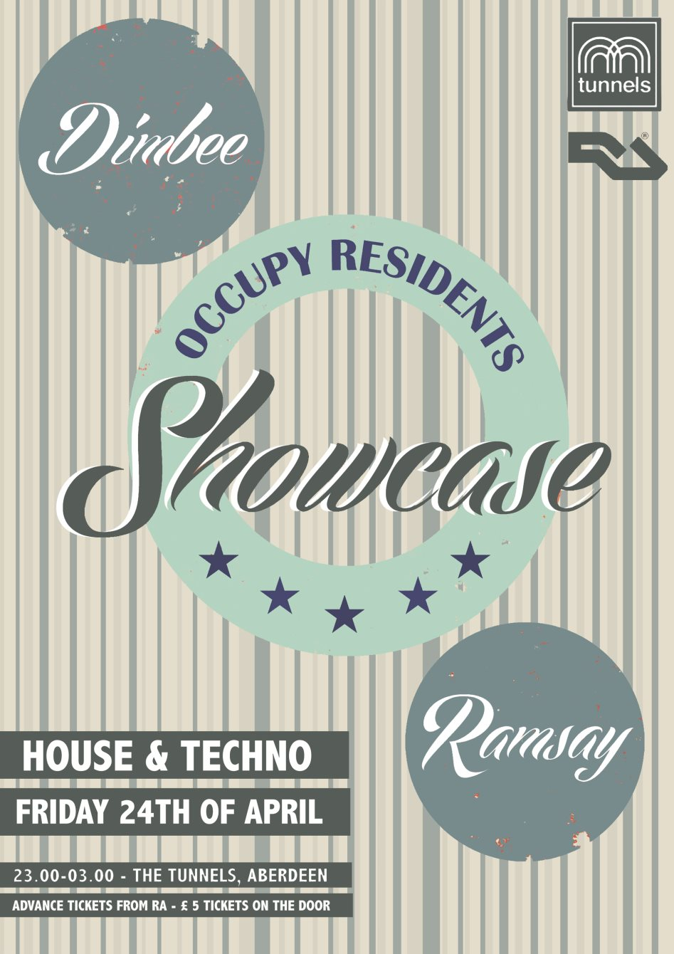 Occupy Residents Showcase: Dimbee & Ramsay - Flyer front