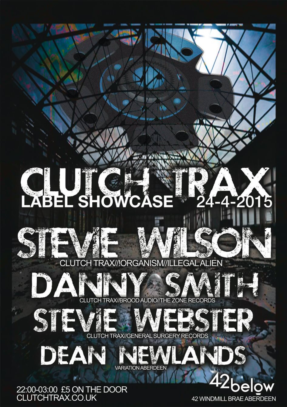Clutch Trax Label Night - Flyer front