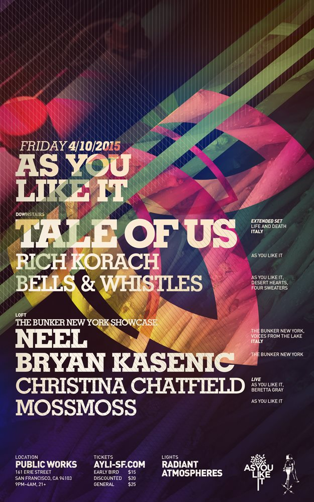 As You Like It with Tale of Us and The Bunker New York Showcase - Flyer front