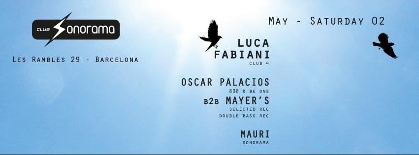 Sonorama presents: Luca Fabiani, Oscar Palacios, Oscar Mayers, Mauri - Flyer front