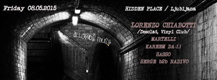 Allowed Musik Meets Lorenzo Chiabotti - Flyer front