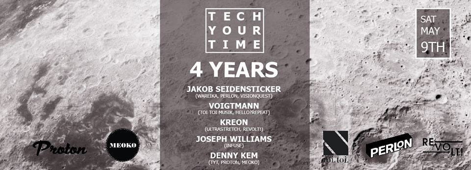 Tech Your Time 4 Years Anniversary & Denny's Birthday Bash - Flyer front