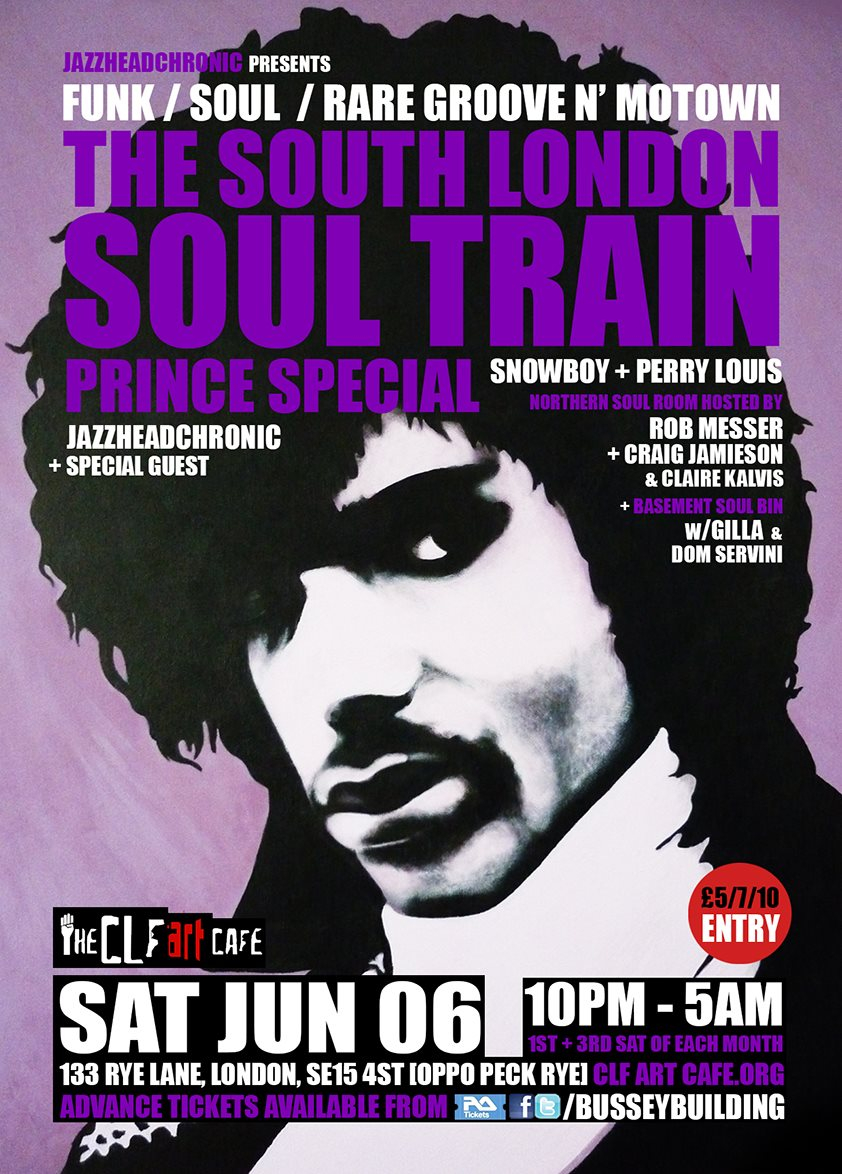 The South London Soul Train Acid Jazz Special with Snowboy & The Latin Section [Live] - More - Flyer back