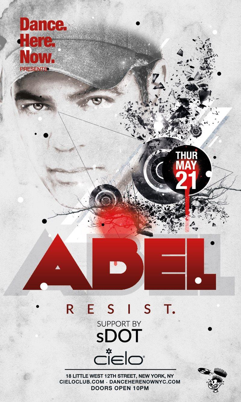 DJ Abel - Flyer front