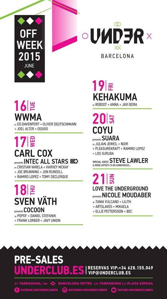 Under Club & Coyu presents Suara Night - Flyer back