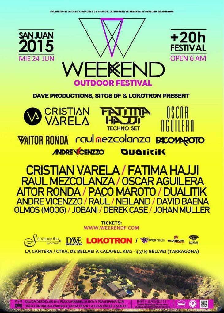 Weekend Outdoor Festival - Flyer back