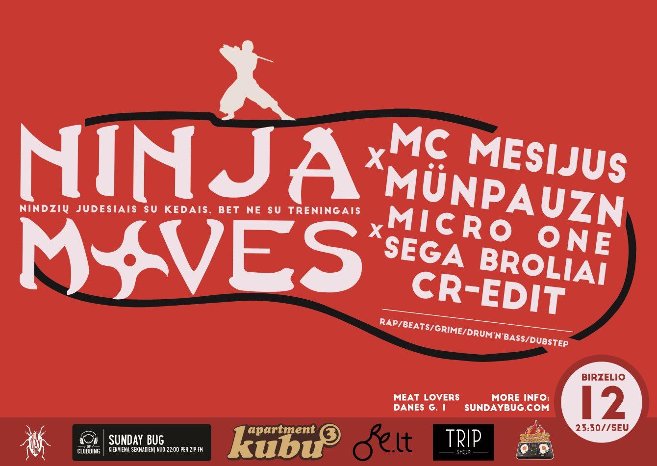 Ninja Moves with MC Mesijus x Münpauzn - Flyer front
