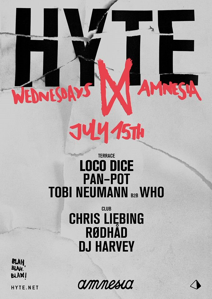Hyte Ibiza - Flyer front