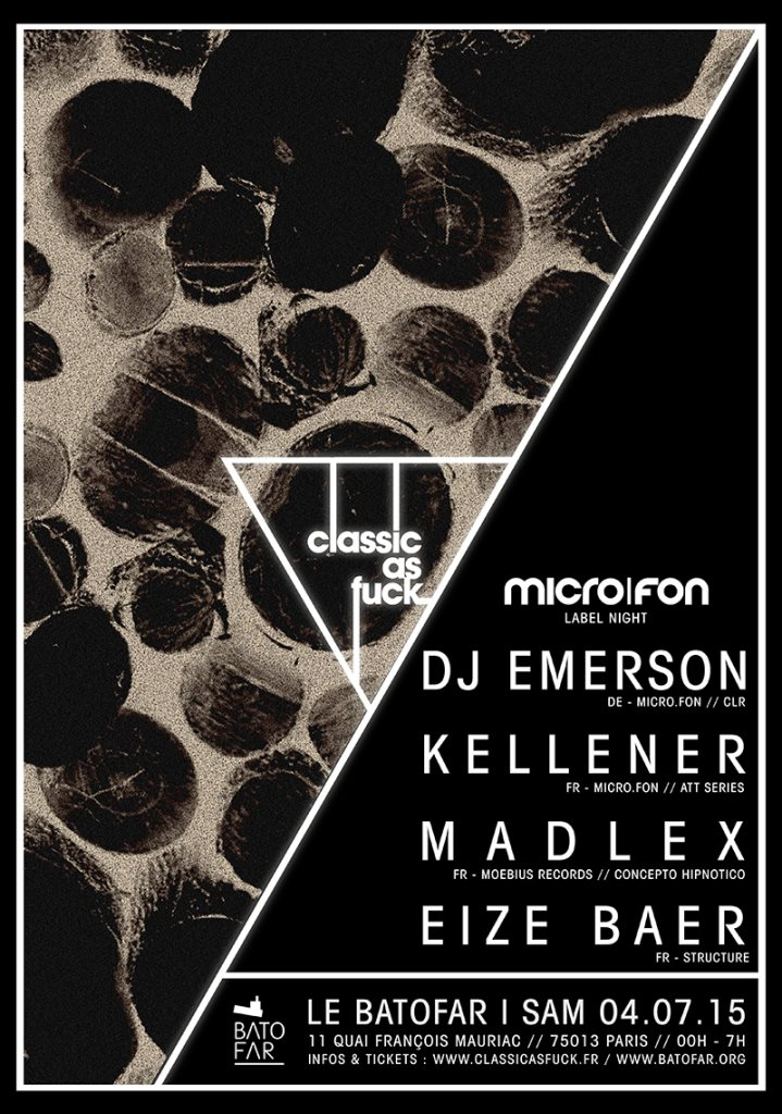 Classic As Fuck with DJ Emerson, Kellener, Madlex, Eize Baer - Flyer front
