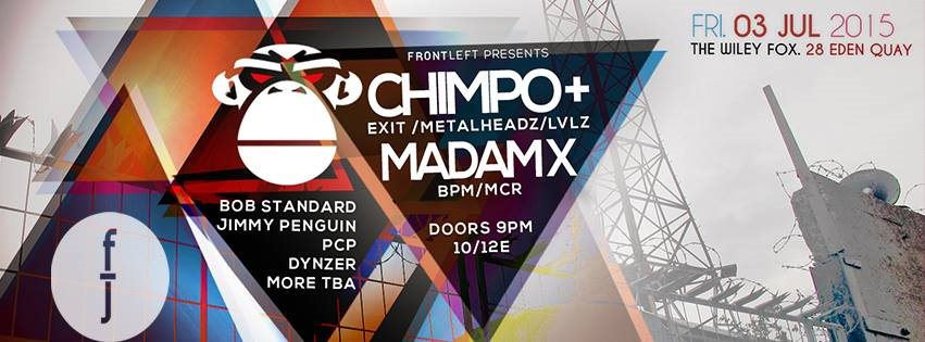 Chimpo + Madam X - Flyer front