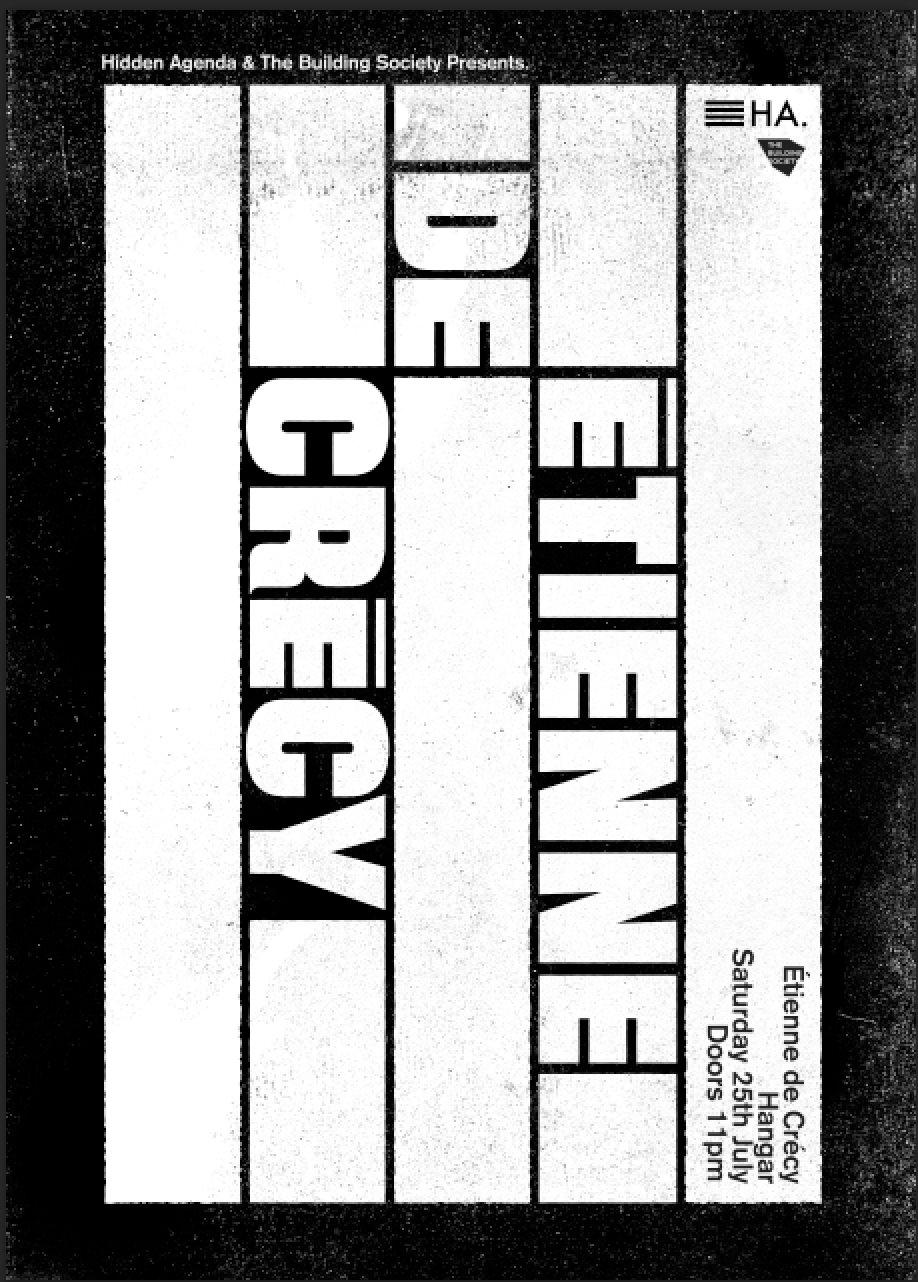 Hidden Agenda & The Building Society: Étienne De Crécy - Flyer front