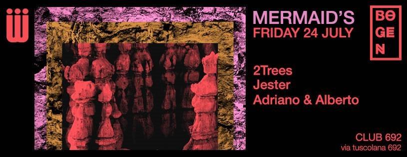 Mermaid's/Bogen with 2Trees & More - Flyer front