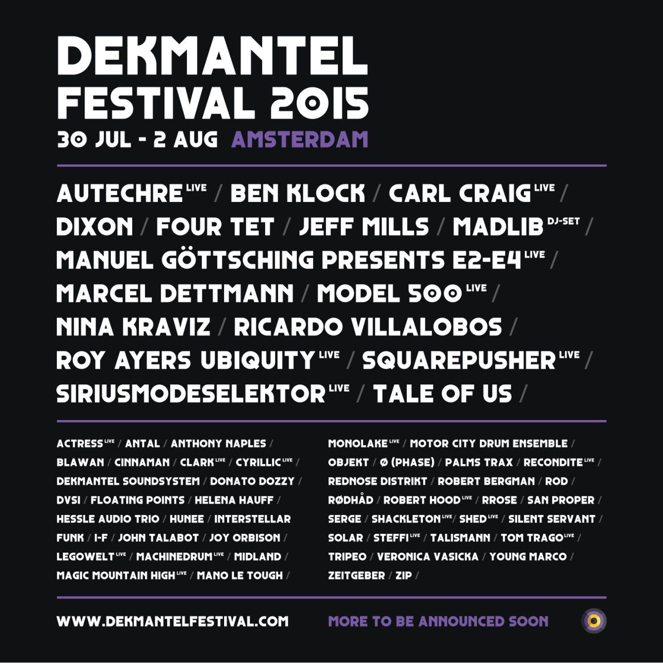 Dekmantel Festival 2015 - Flyer front
