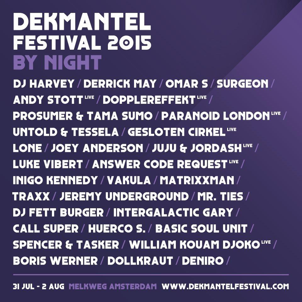 Dekmantel Festival 2015 - Flyer back