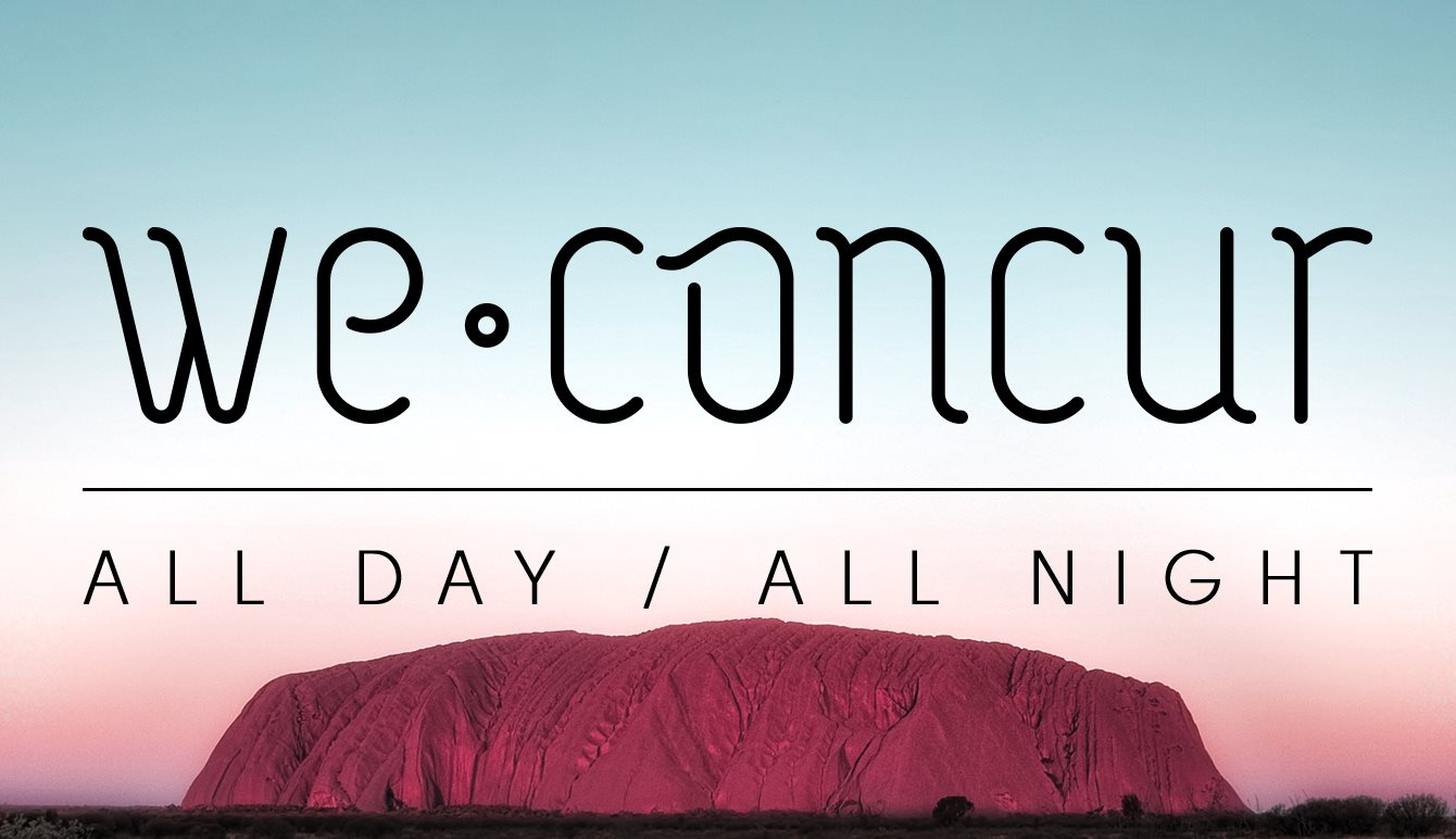 We Concur All Day / All Night with Michael Mayer, Extrawelt, Robag Wruhme - Flyer front
