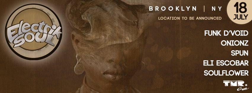 Electrik Soul NYC - Funk D'void/ Onionz/ Dj Spun/ Eli Escobar/ Soulflower - Flyer front
