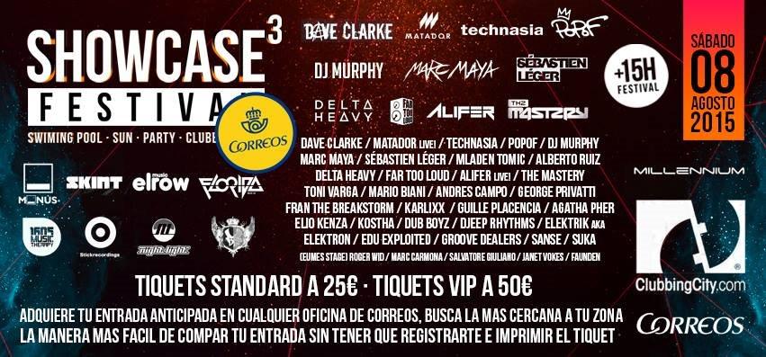 Showcase Festival 2015 - Flyer front