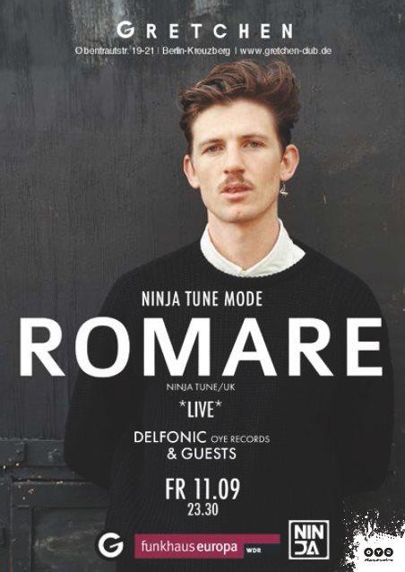 Ninja Tune Mode with Romare + Max Graef + Glenn Astro - Flyer front