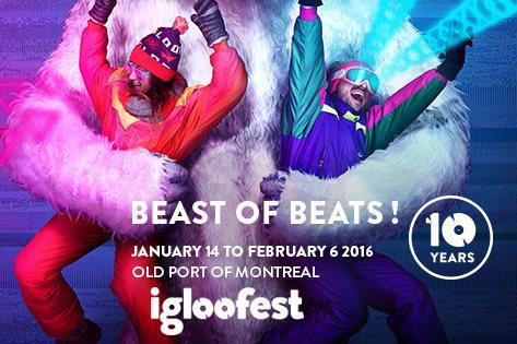 Igloofest - Day 4 - The Martinez Brothers, Guy Gerber, Grandtheft & Sleepy Tom - Flyer front