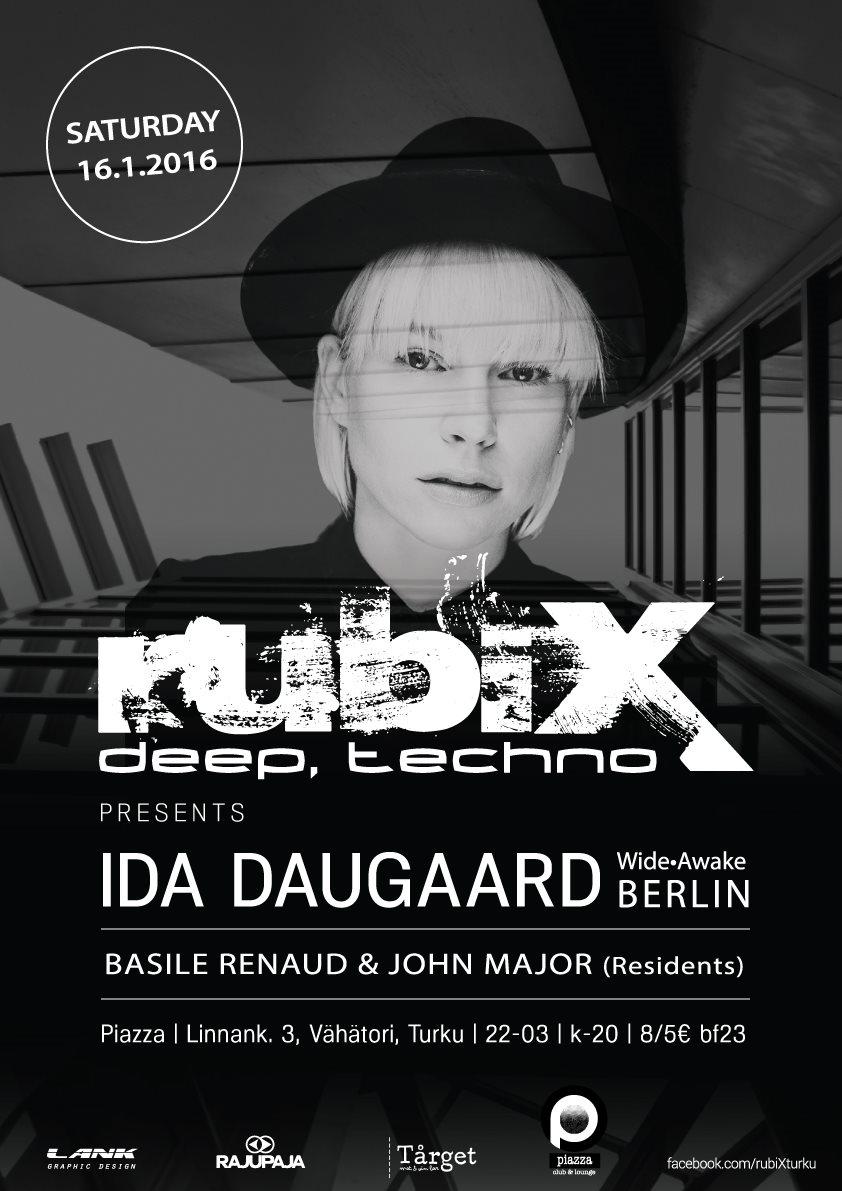 Rubix Pres. Ida Daugaard 160116 - Flyer front