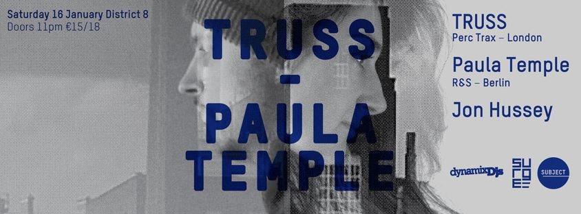 Truss & Paula Temple - Flyer front