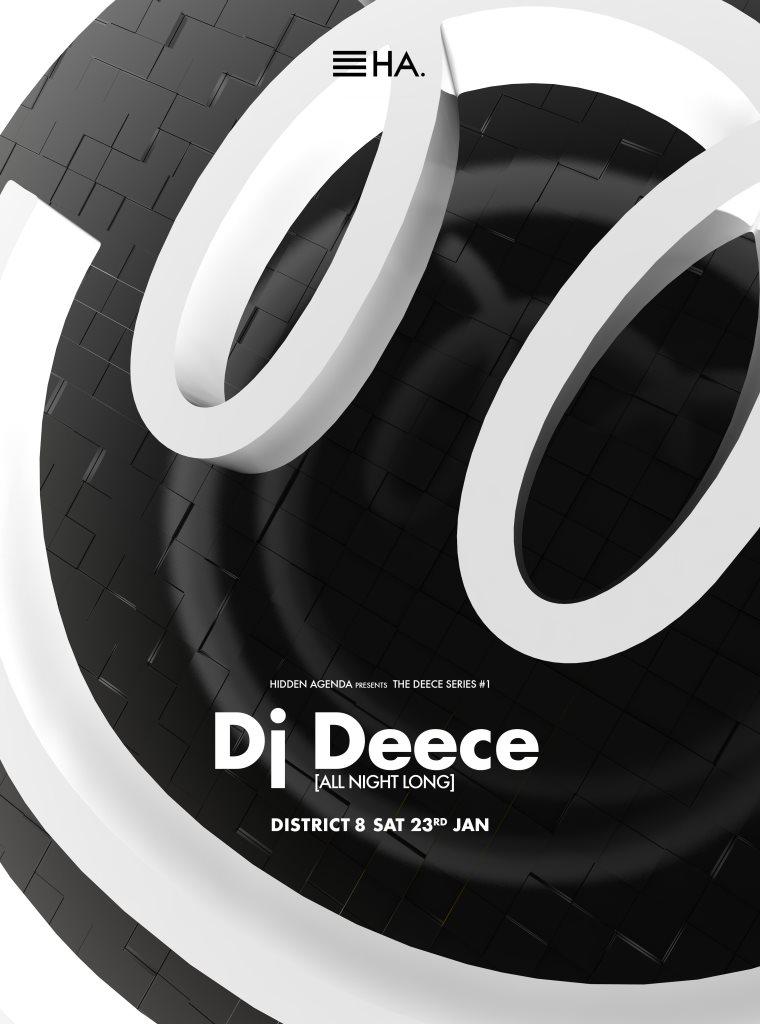 Hidden Agenda presents The Deece Series #1 - Flyer front