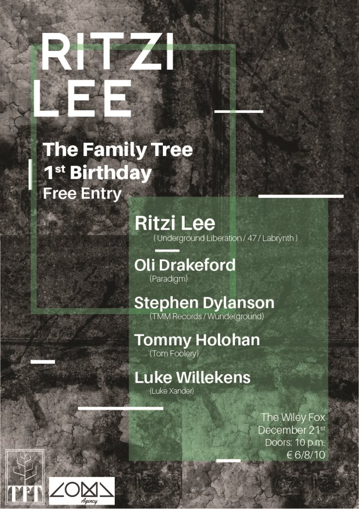 The Family Tree 1st Birthday: Ritzi Lee - Flyer front