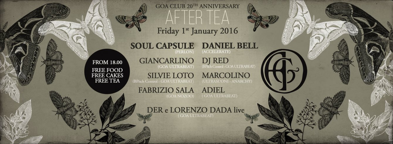 Goa Club After Tea with Daniel Bell, Soul Capsule & Goa Family - Flyer front